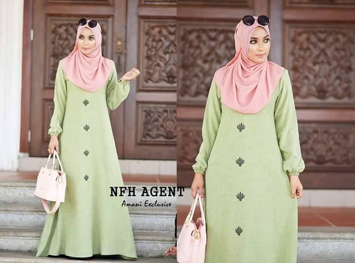 DRESS KAMILA SWEET GREEN