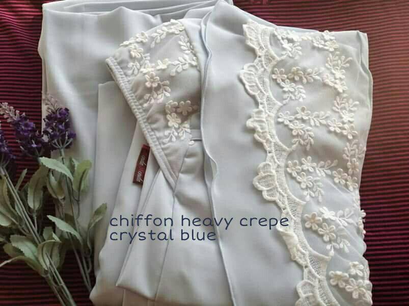 RR2 CHIFFON HEAVY CREPE CRYSTAL BLUE