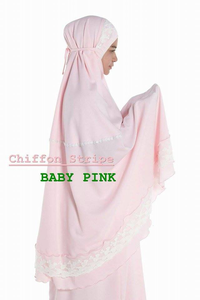 RR2 CHIFFON STRIPE BABY PINK