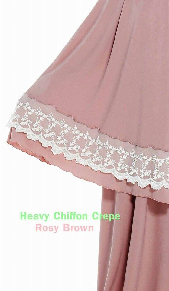 RR2 HEAVY CHIFFON CREPE ROSY BROWN