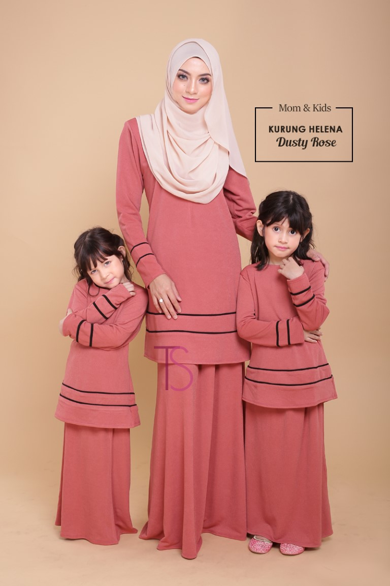 BAJU KURUNG SEDONDON HELENA DUSTY ROSE