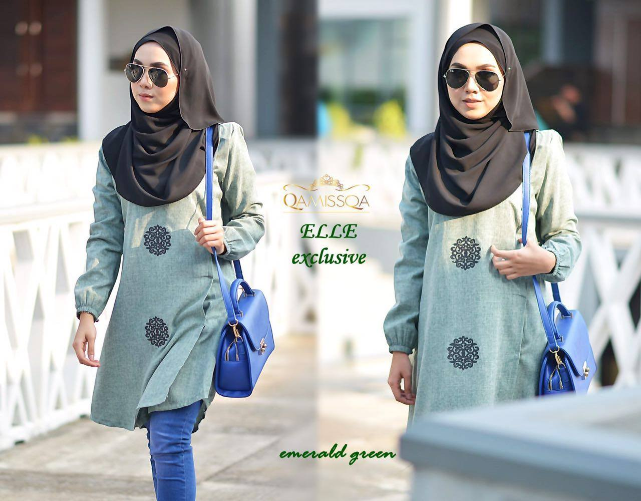 BLOUSE ELLE SUTERA THAI EMERALD GREEN