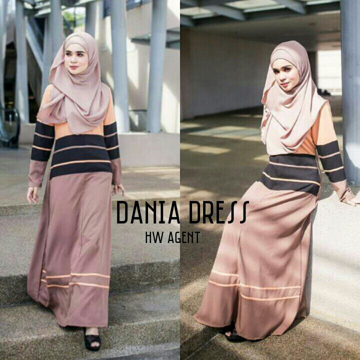 DRESS MOSS CREPE DANIA BROWN