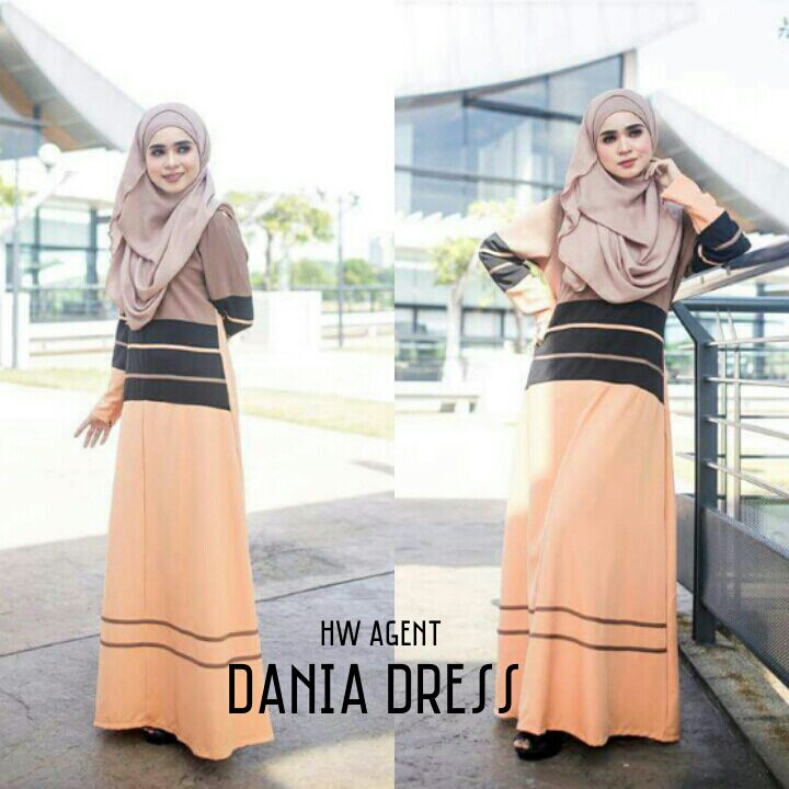 DRESS MOSS CREPE DANIA YELLOWISH BROWN B