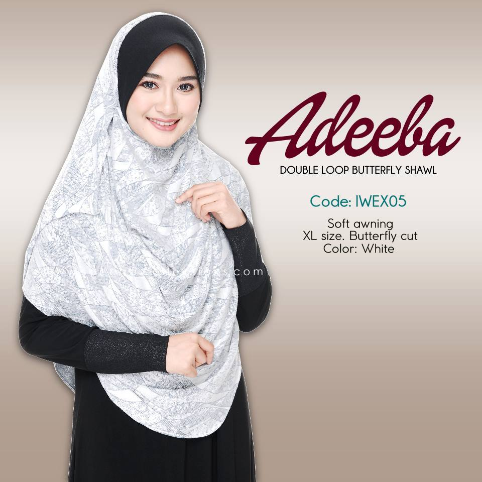 SHAWL ADEEBA DOUBLE LOOP KOD IWEX05