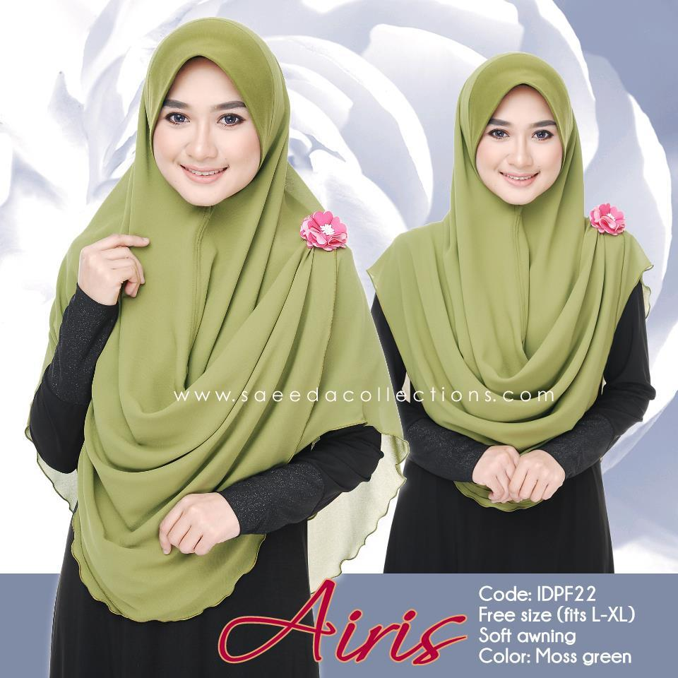 TUDUNG CHIFFON AIRIS FITS L TO XL IDPF22