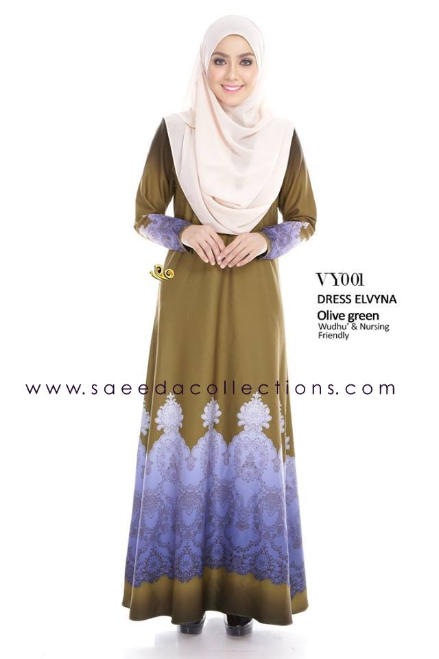 DRESS MUSLIMAH RAYA 2016 ELVYNA VY001 A