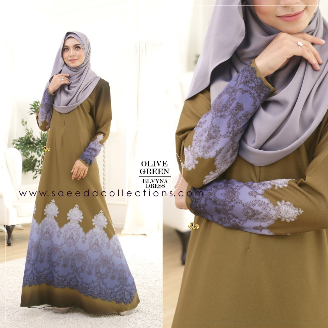 DRESS MUSLIMAH RAYA 2016 ELVYNA VY001 C