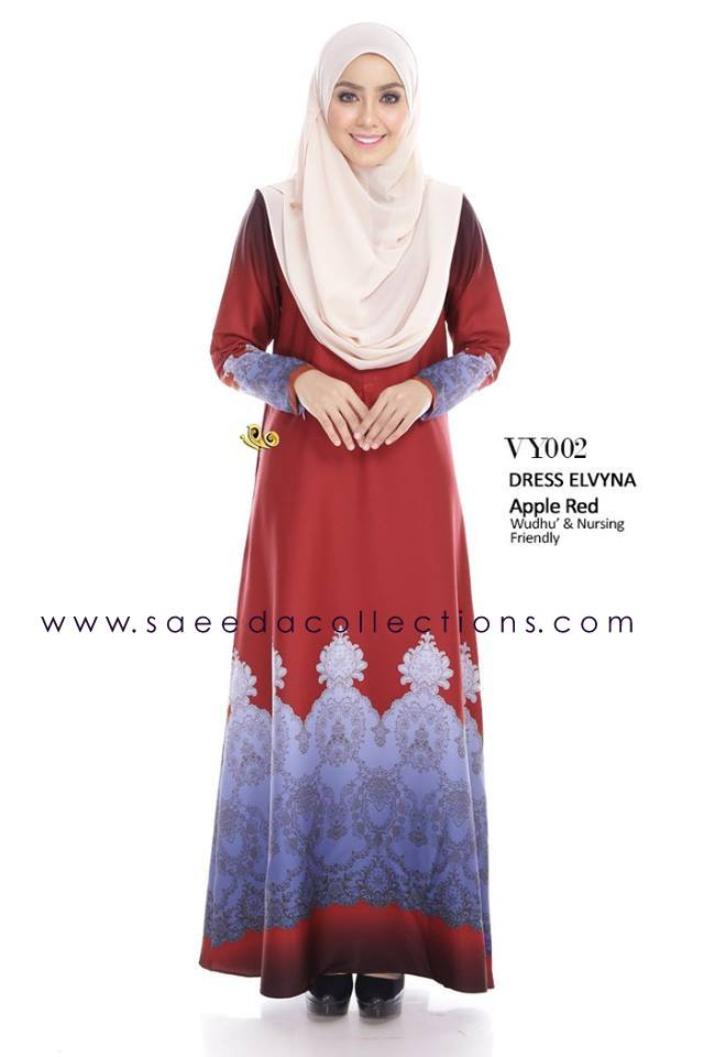 DRESS MUSLIMAH RAYA 2016 ELVYNA VY002 A