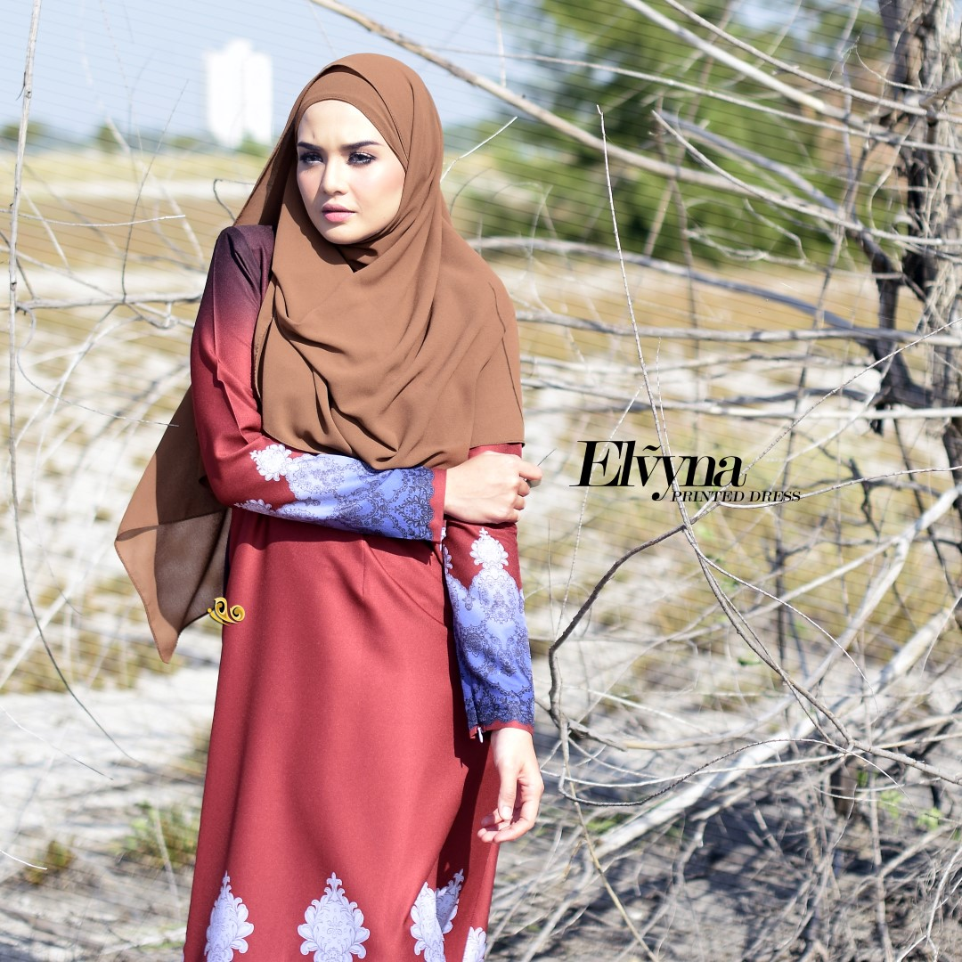 DRESS MUSLIMAH RAYA 2016 ELVYNA VY002 C