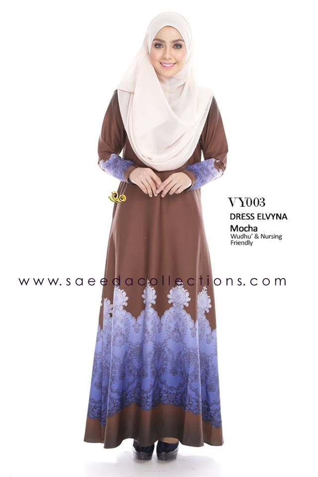 DRESS MUSLIMAH RAYA 2016 ELVYNA VY003 A
