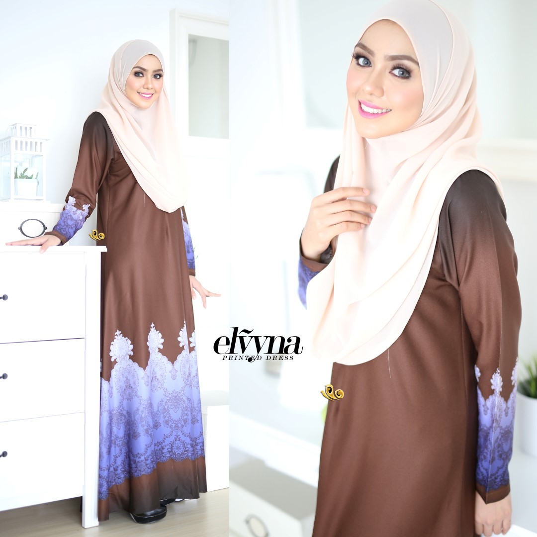 DRESS MUSLIMAH RAYA 2016 ELVYNA VY003 C
