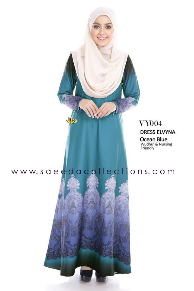 DRESS MUSLIMAH RAYA 2016 ELVYNA VY004 A