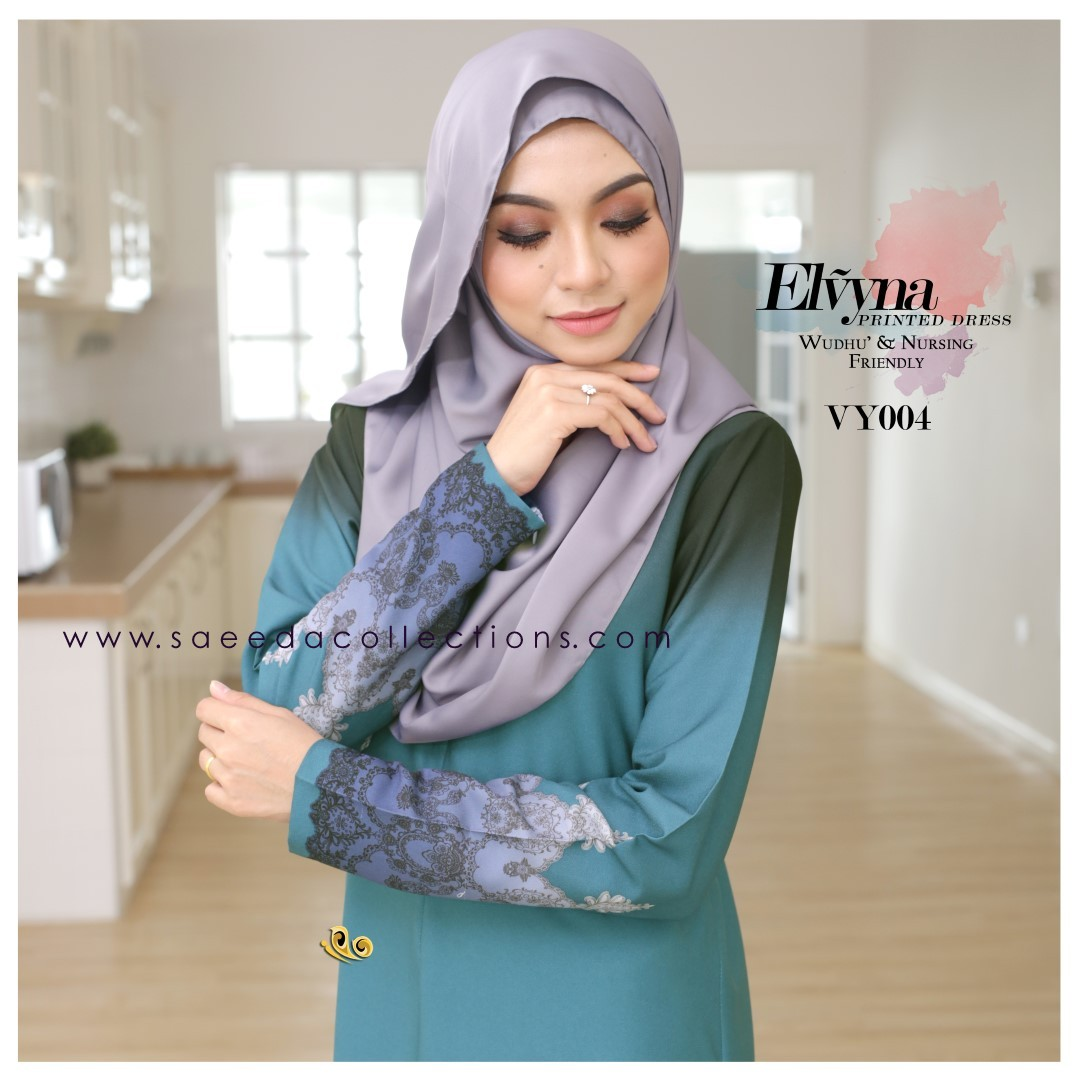 DRESS MUSLIMAH RAYA 2016 ELVYNA VY004 B