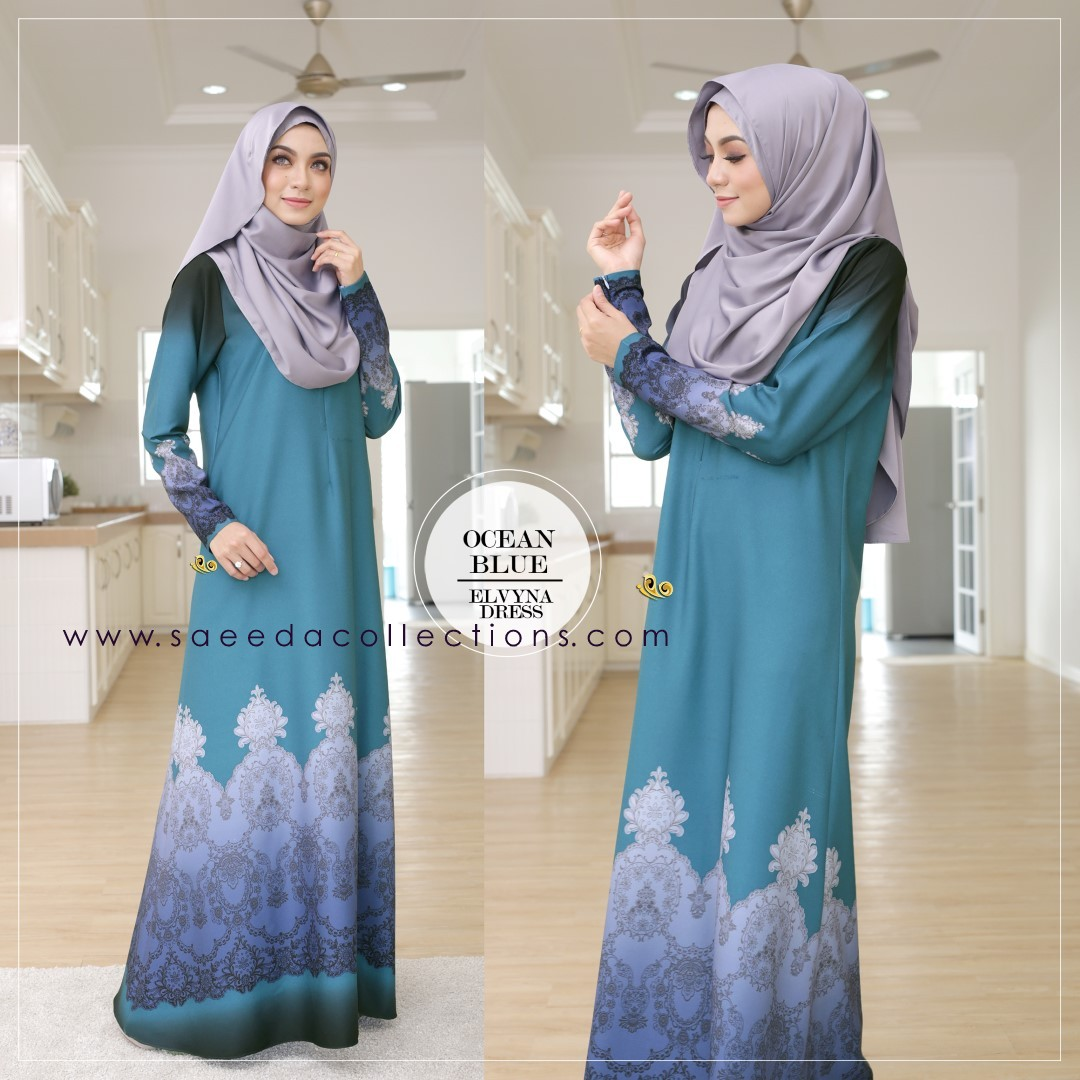 DRESS MUSLIMAH RAYA 2016 ELVYNA VY004 C