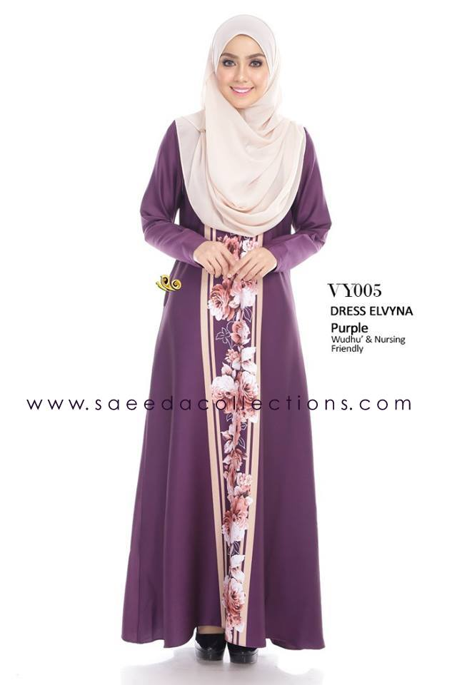 DRESS MUSLIMAH RAYA 2016 ELVYNA VY005 A