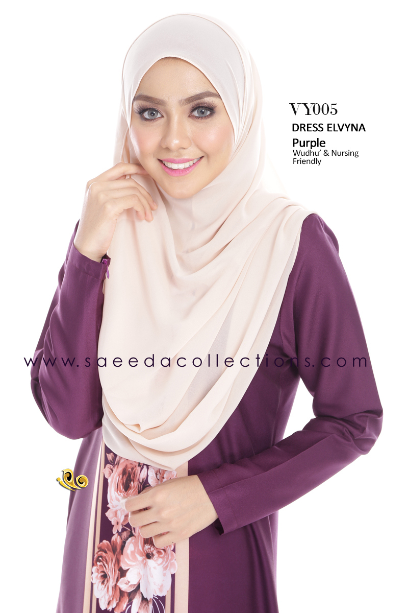 DRESS MUSLIMAH RAYA 2016 ELVYNA VY005 B