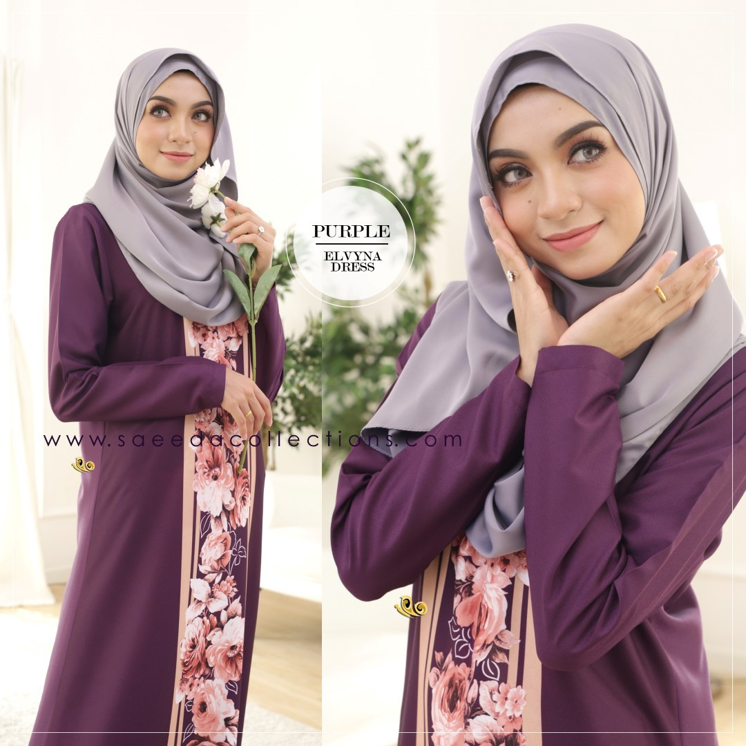 DRESS MUSLIMAH RAYA 2016 ELVYNA VY005 C