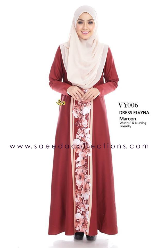 DRESS MUSLIMAH RAYA 2016 ELVYNA VY006 A