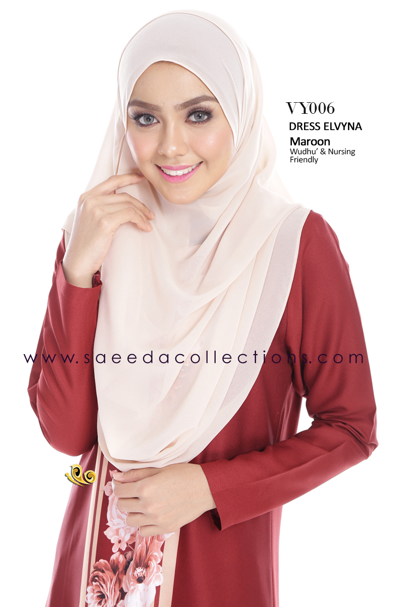 DRESS MUSLIMAH RAYA 2016 ELVYNA VY006 B