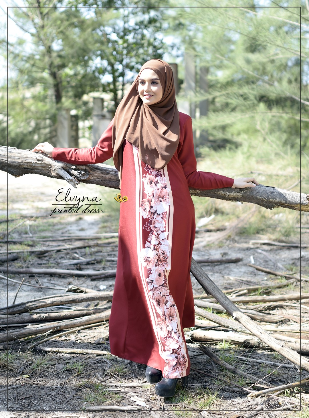 DRESS MUSLIMAH RAYA 2016 ELVYNA VY006 E