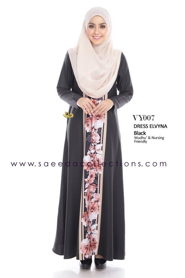 DRESS MUSLIMAH RAYA 2016 ELVYNA VY007 A