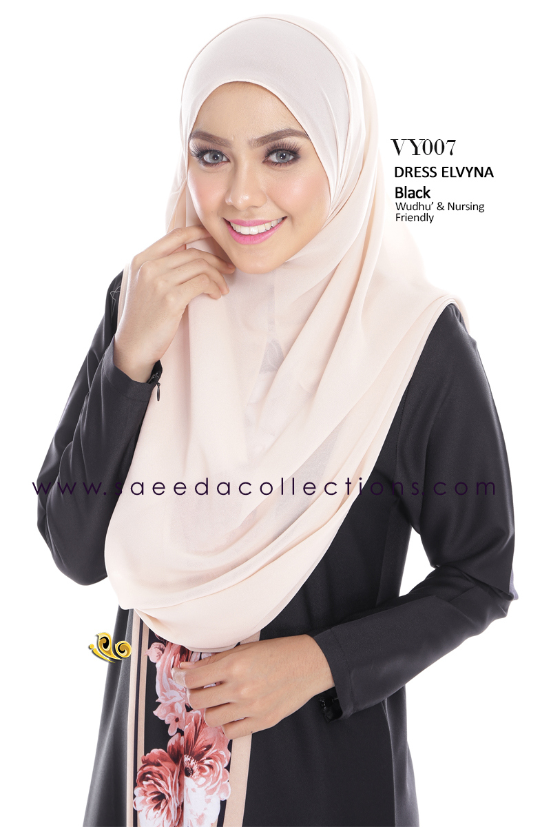DRESS MUSLIMAH RAYA 2016 ELVYNA VY007 B