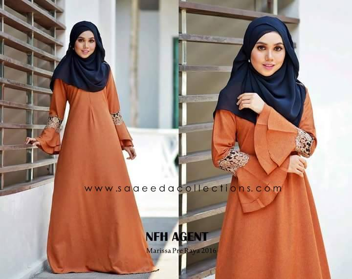 DRESS RAYA 2016 MARISSA SATIN DUST ORANGE