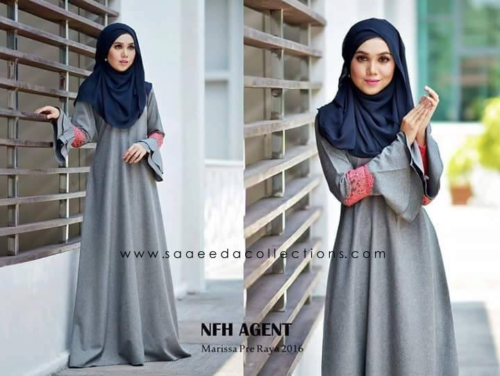 DRESS RAYA 2016 MARISSA SATIN GREY