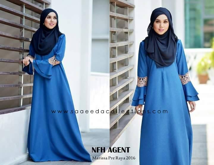 DRESS RAYA 2016 MARISSA SATIN OCEAN BLUE B