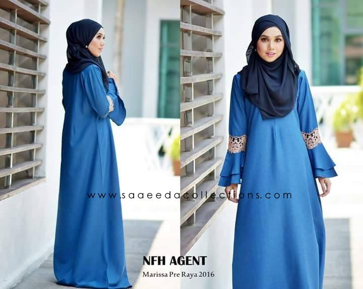 DRESS RAYA 2016 MARISSA SATIN OCEAN BLUE