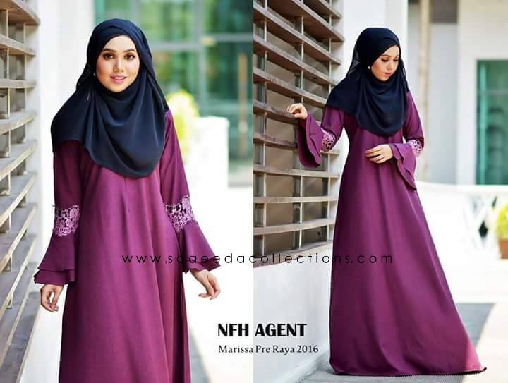 DRESS RAYA 2016 MARISSA SATIN PURPLE MANGOSTEEN