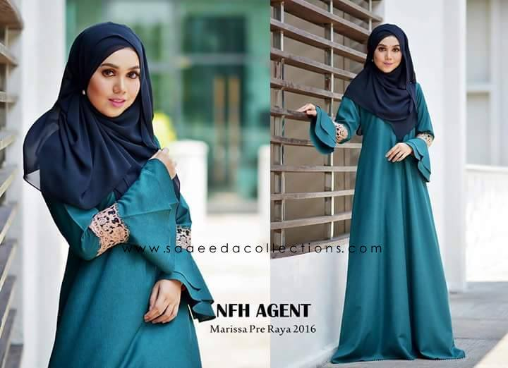 DRESS RAYA 2016 MARISSA SATIN TEAL