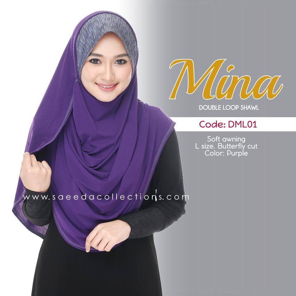 SHAWL DENIM DOUBLE LOOP MINA DML01