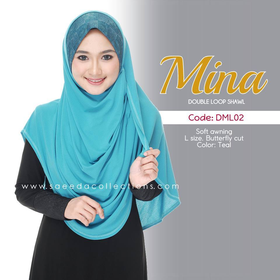 SHAWL DENIM DOUBLE LOOP MINA DML02