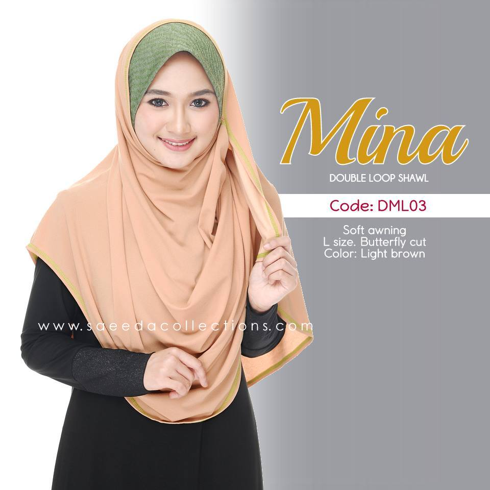 SHAWL DENIM DOUBLE LOOP MINA DML03