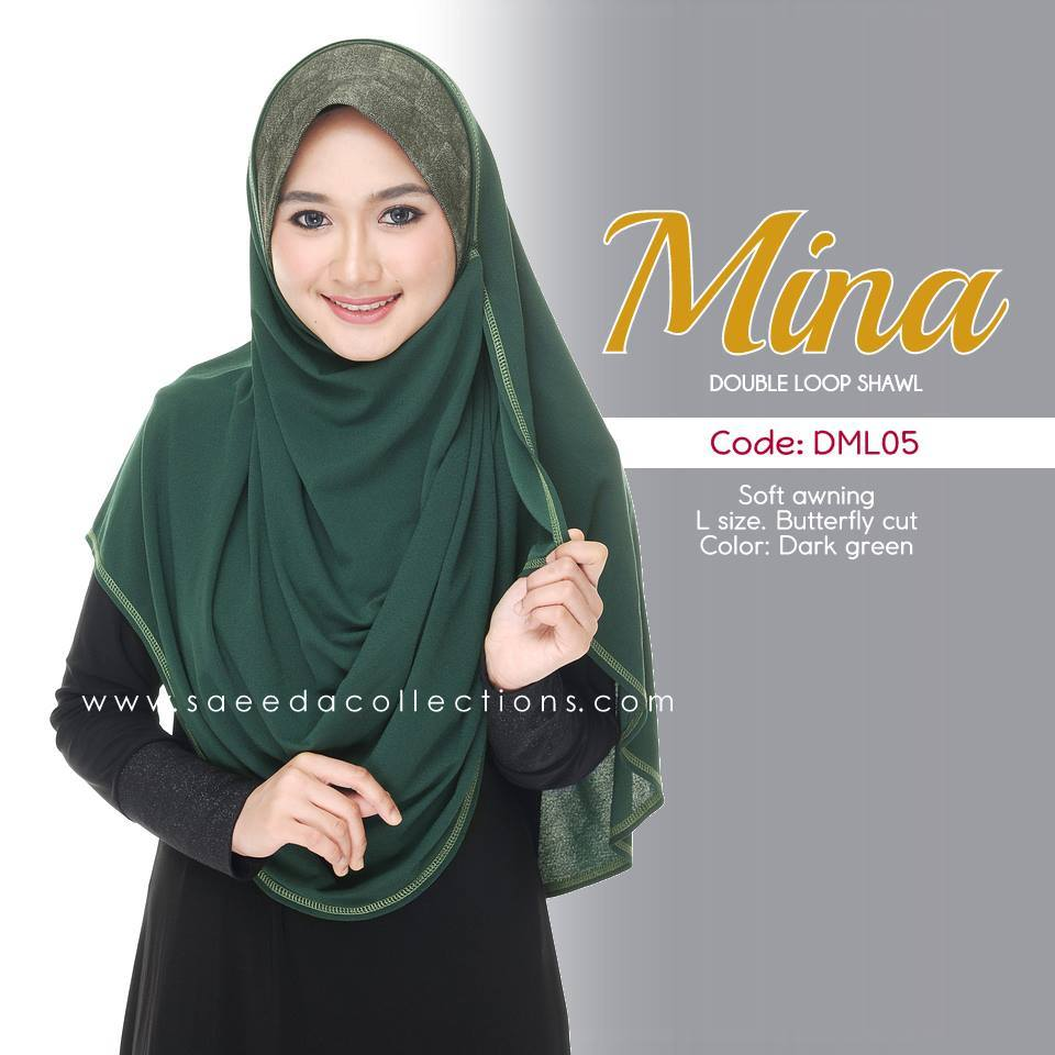 SHAWL DENIM DOUBLE LOOP MINA DML05