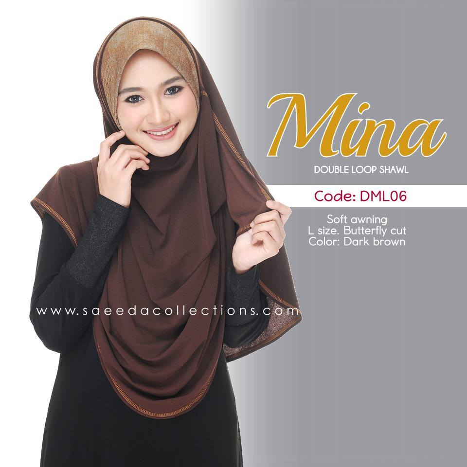 SHAWL DENIM DOUBLE LOOP MINA DML06