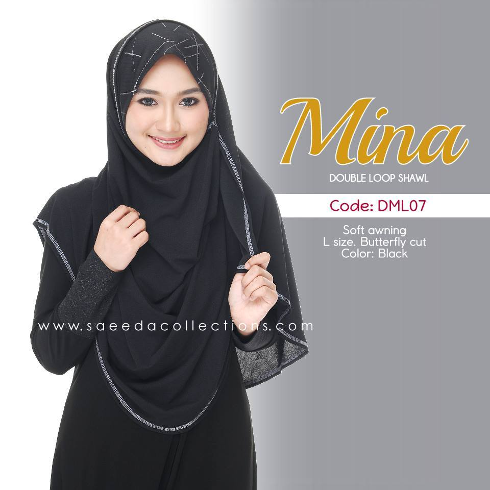 SHAWL DENIM DOUBLE LOOP MINA DML07