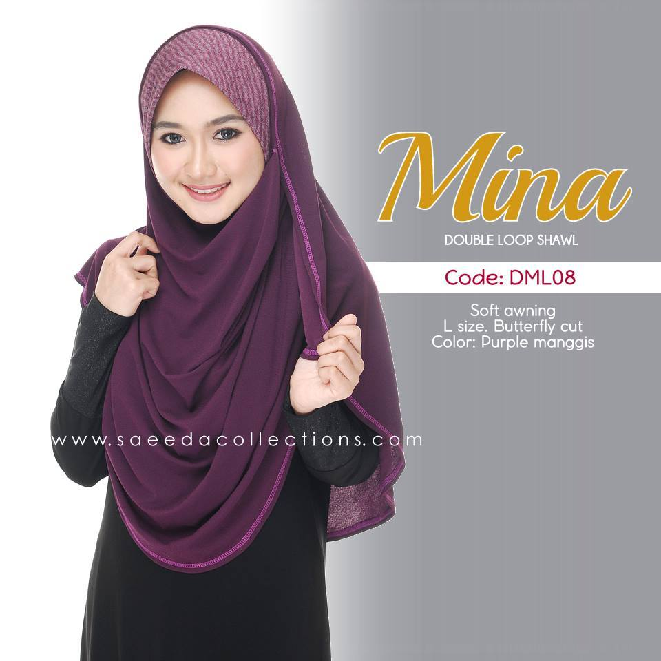 SHAWL DENIM DOUBLE LOOP MINA DML08