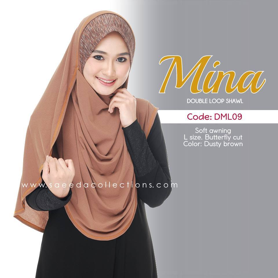 SHAWL DENIM DOUBLE LOOP MINA DML09