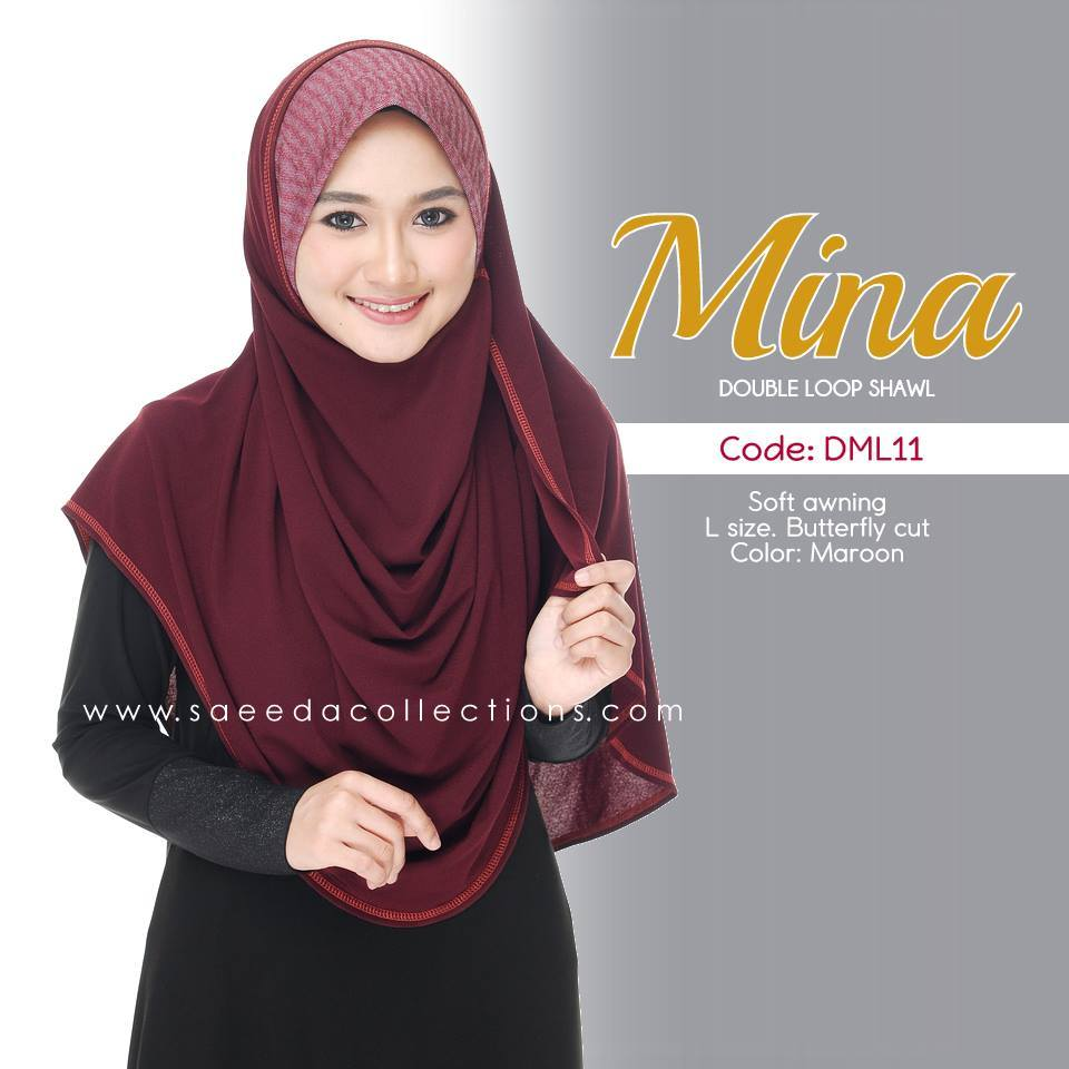 SHAWL DENIM DOUBLE LOOP MINA DML11