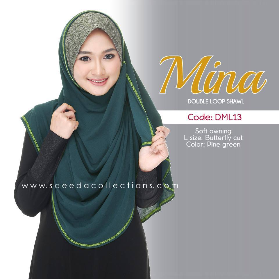 SHAWL DENIM DOUBLE LOOP MINA DML13