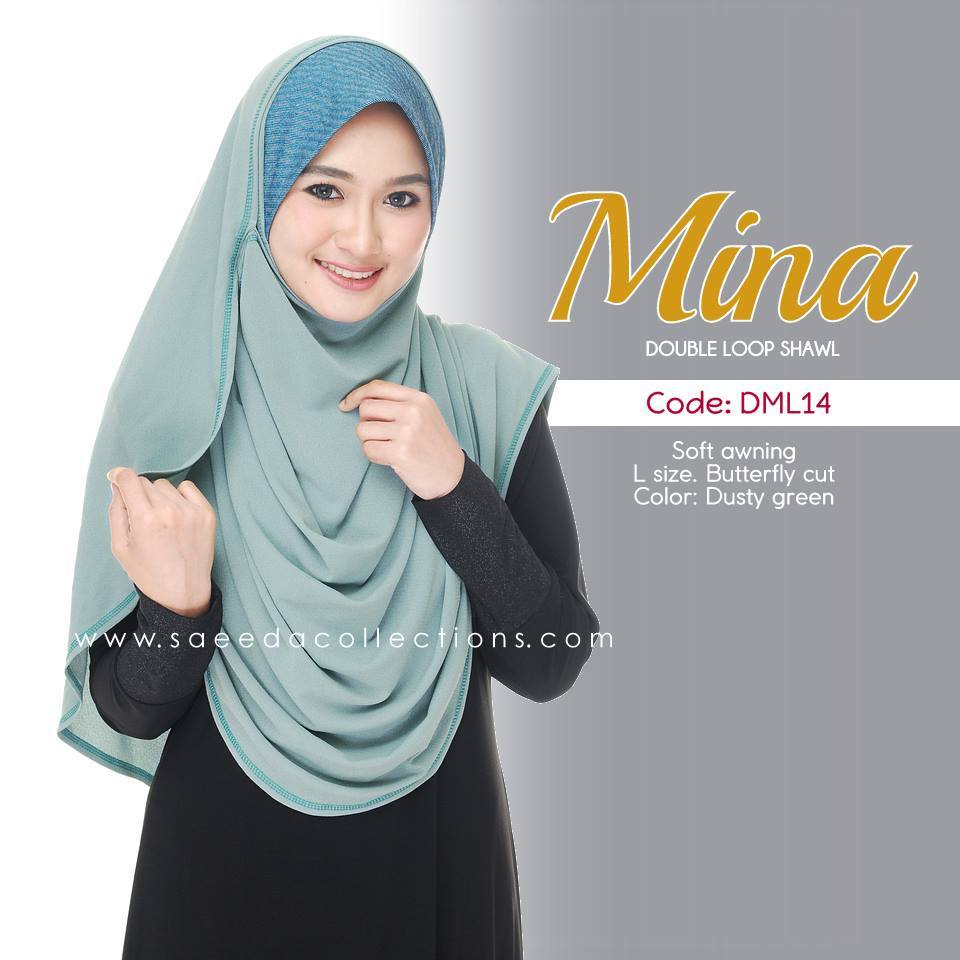 SHAWL DENIM DOUBLE LOOP MINA DML14