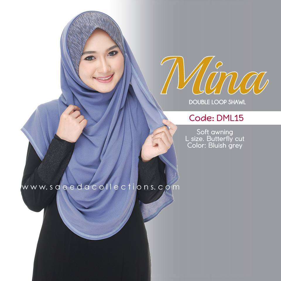 SHAWL DENIM DOUBLE LOOP MINA DML15