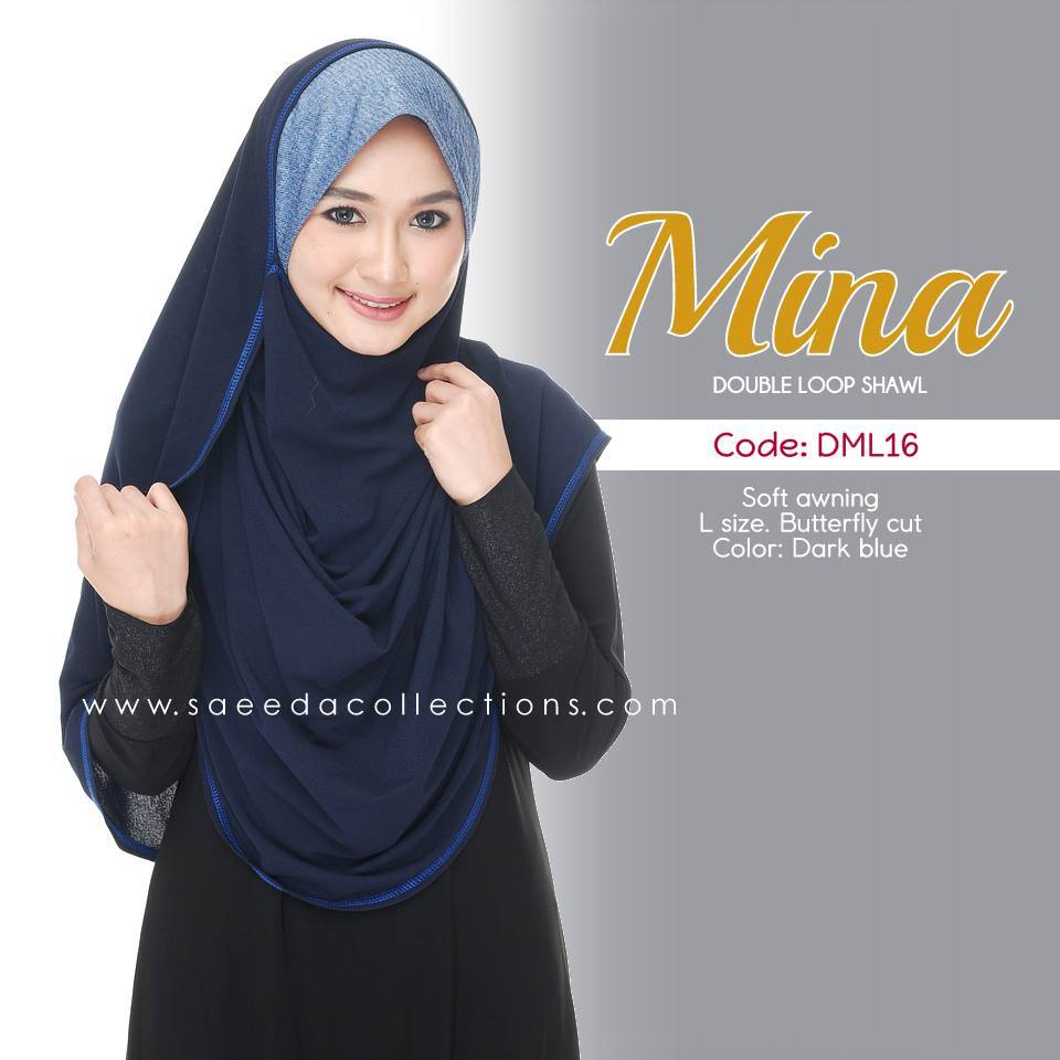 SHAWL DENIM DOUBLE LOOP MINA DML16