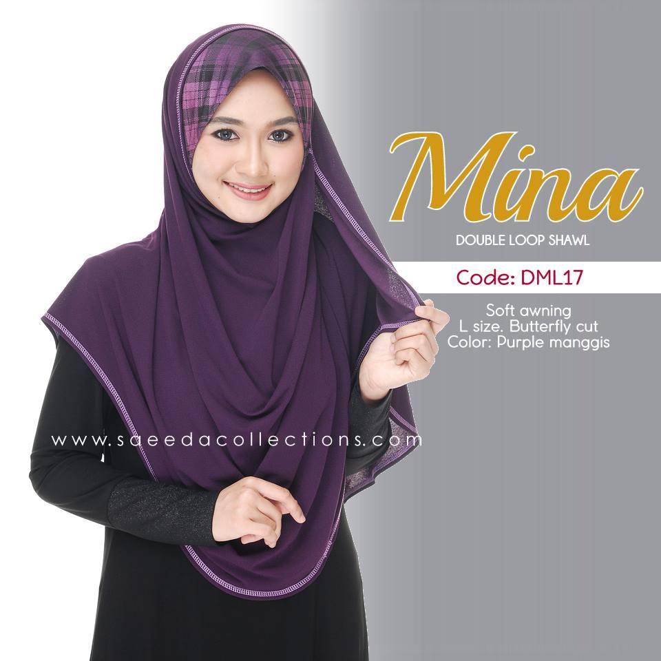 SHAWL DENIM DOUBLE LOOP MINA DML17