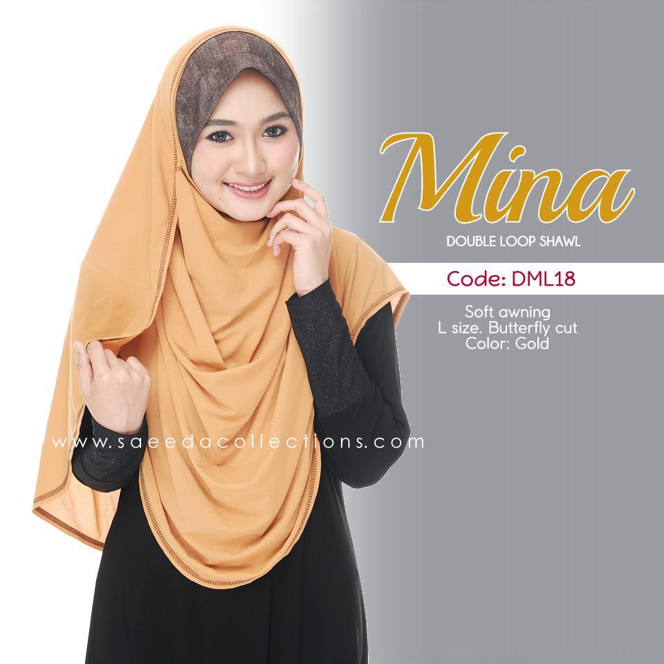 SHAWL DENIM DOUBLE LOOP MINA DML18