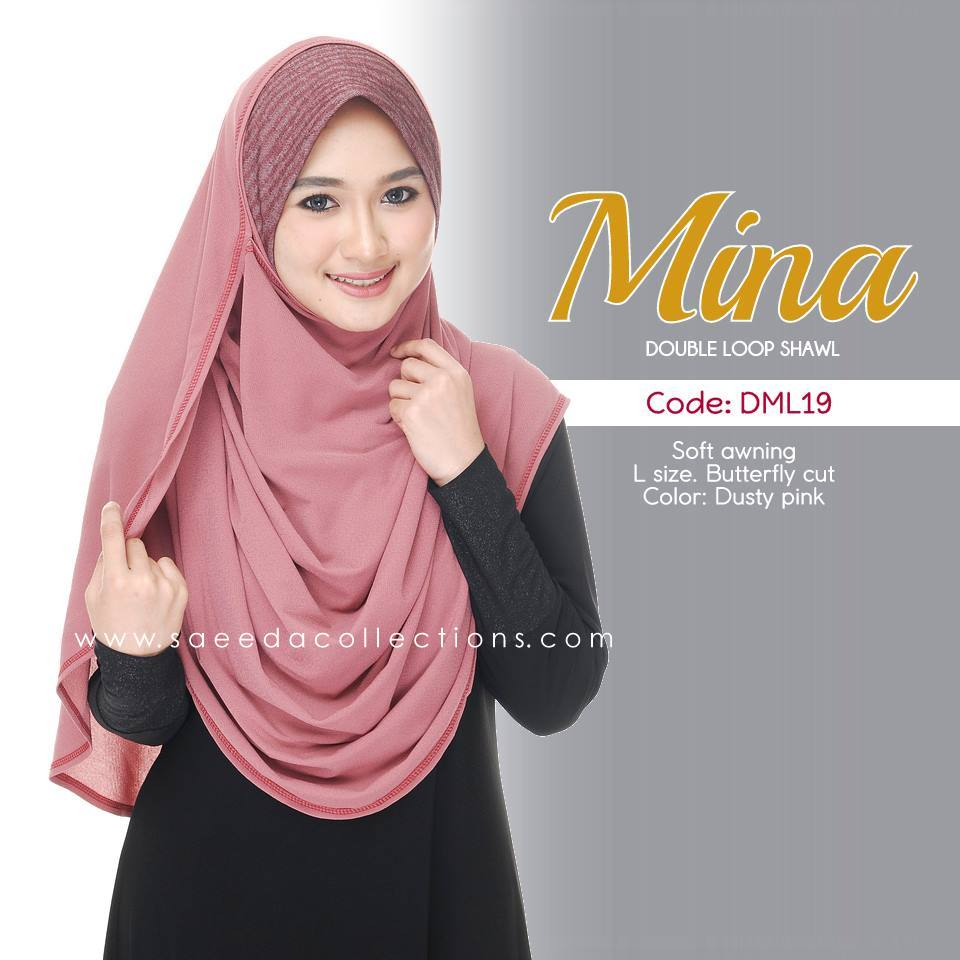 SHAWL DENIM DOUBLE LOOP MINA DML19