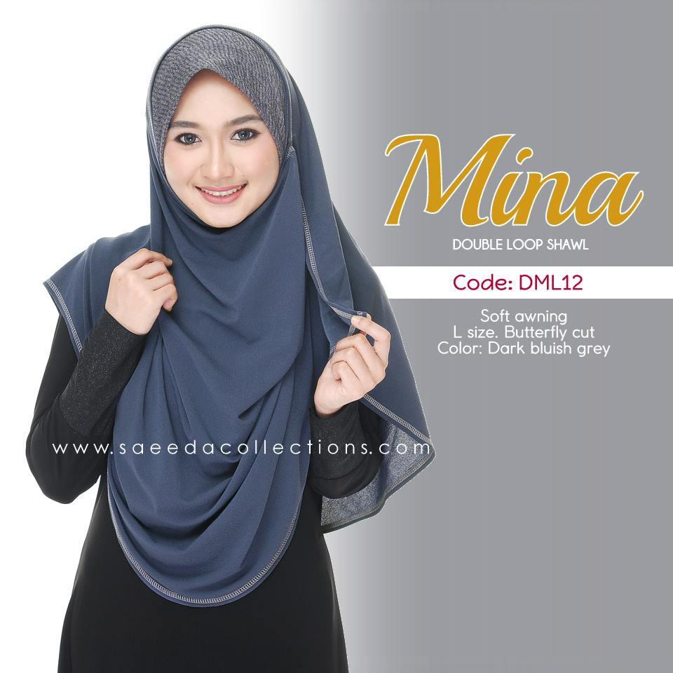 SHAWL DENIM DOUBLE LOOP MINA dml12